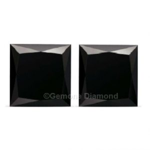 princess cut black diamonds pair online