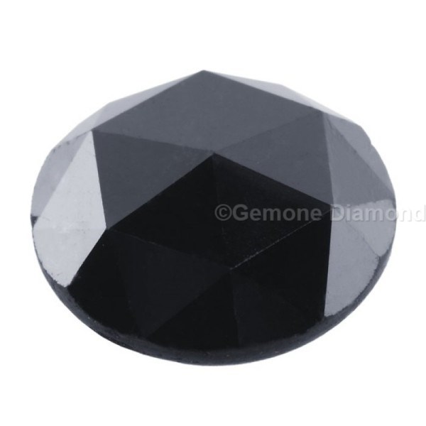 5 carat AA quality rose cut natural black diamond