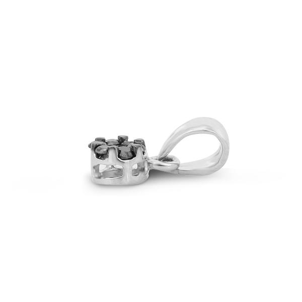 Tiny Black Diamond Pendant