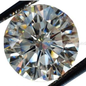 colourless round brilliant cut diamond