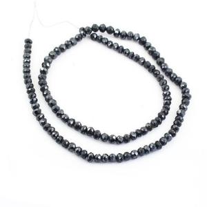 black large diamond beads necklace