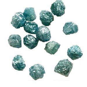 blue uncut diamond beads