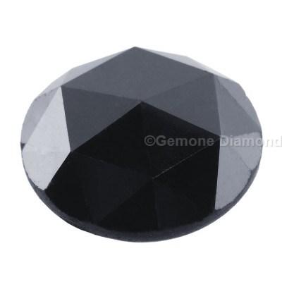 2 carat rose cut black diamond