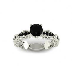 designer black diamond engagement ring