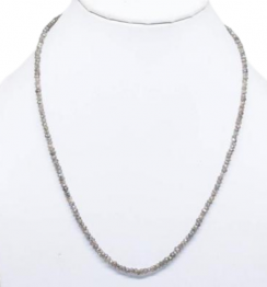 faceted diamond beads necklace strands