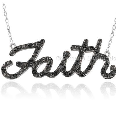faith pendant black diamond jewelry