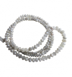 faceted gray diamond beads