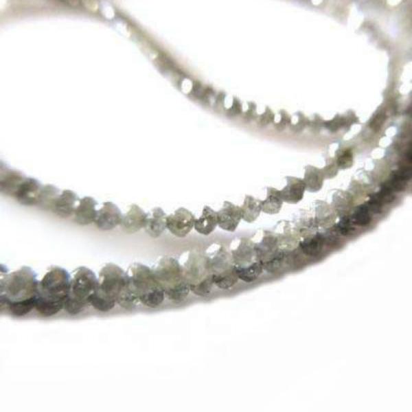 gray diamond faceted bead