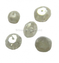 gray faceted diamond beads