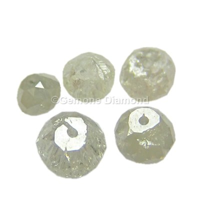 gray diamond faceted beads online