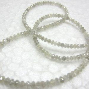gray loose diamond faceted beads