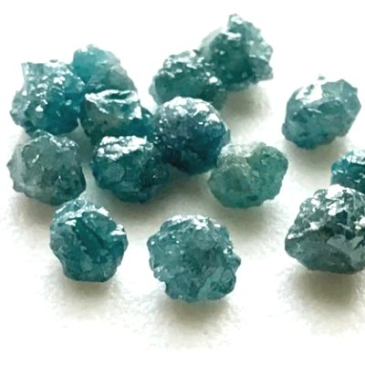 greenish blue diamond beads