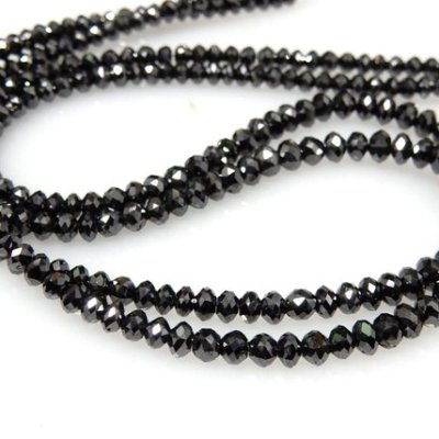 natural black loose diamond faceted beads