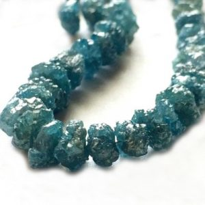 blue raw diamond beads strand