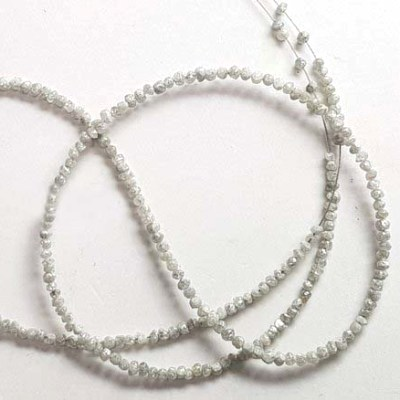 raw uncut diamond strand
