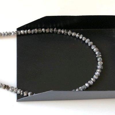 raw diamond beads strand