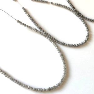 raw diamond beads strand