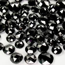 round rose cut black diamonds lot