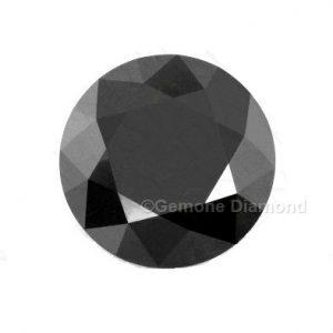 natural loose black diamond round cut