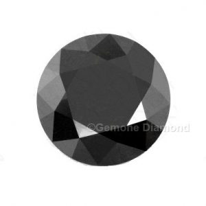 round cut loose black diamond pair