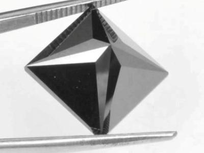 fine 1 carat princess cut natural black diamond