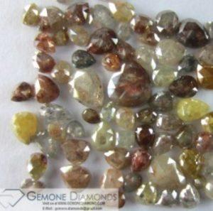 icy pear cut diamonds mix size