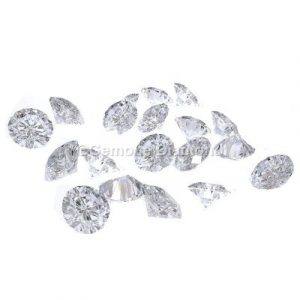 Fancy natural loose diamond white round brilliant