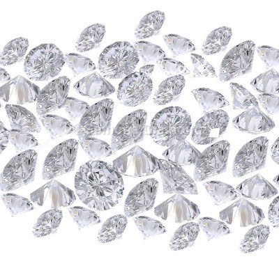 round brilliant cut loose white diamonds