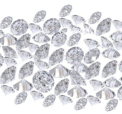 round brilliant cut white diamonds