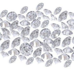 loose diamond white round Shaped brilliant lot
