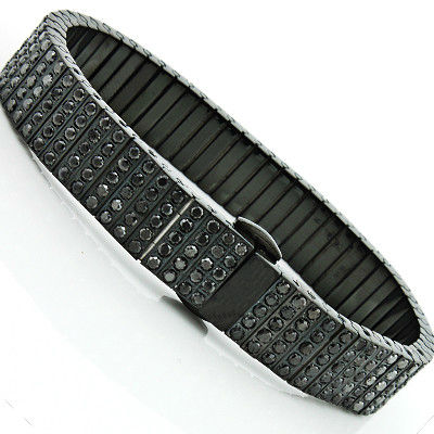 13 43 Carat Men S Black Diamond Bracelet