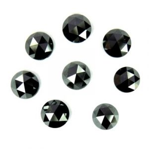 rose cut black diamond lot