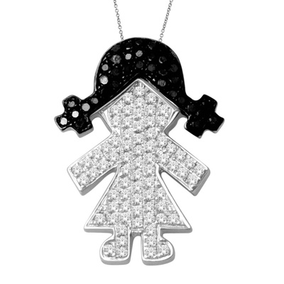 Girl Necklace Pendant