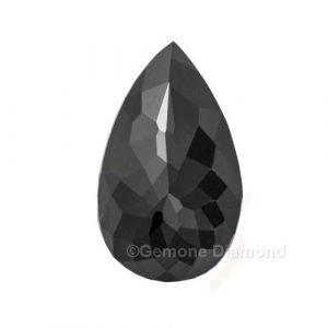 rose cut pear diamond