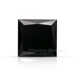 princess cut black diamond