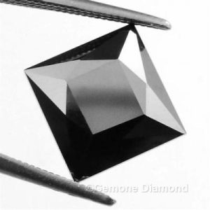 4 carat princess cut black diamond