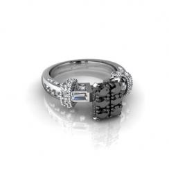 rectangle diamond engagement rings