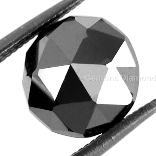 loose rose cut black diamond