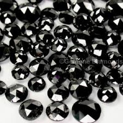 brilliant rose cut black diamonds
