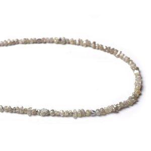 uncut grey diamond strand