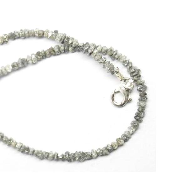 uncut gray diamond beads
