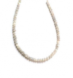loose faceted diamond beads necklace