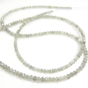 white diamond faceted beads