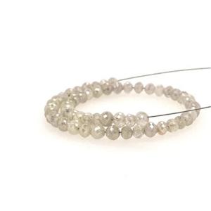 white diamond bead