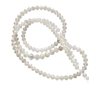 faceted white diamond beads