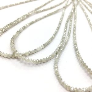 white faceted diamond beads necklace