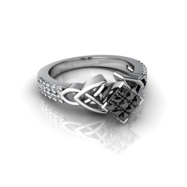 square shaped engagement rings