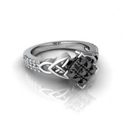 square wedding rings