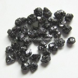 natural Black rough uncut loose diamond