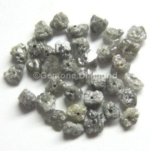 Gary rough uncut loose diamond beads